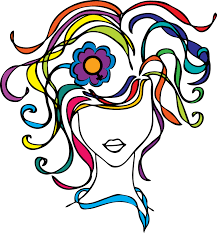 colorful womans hair